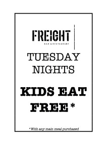 Tuesday Kids Eat Free
